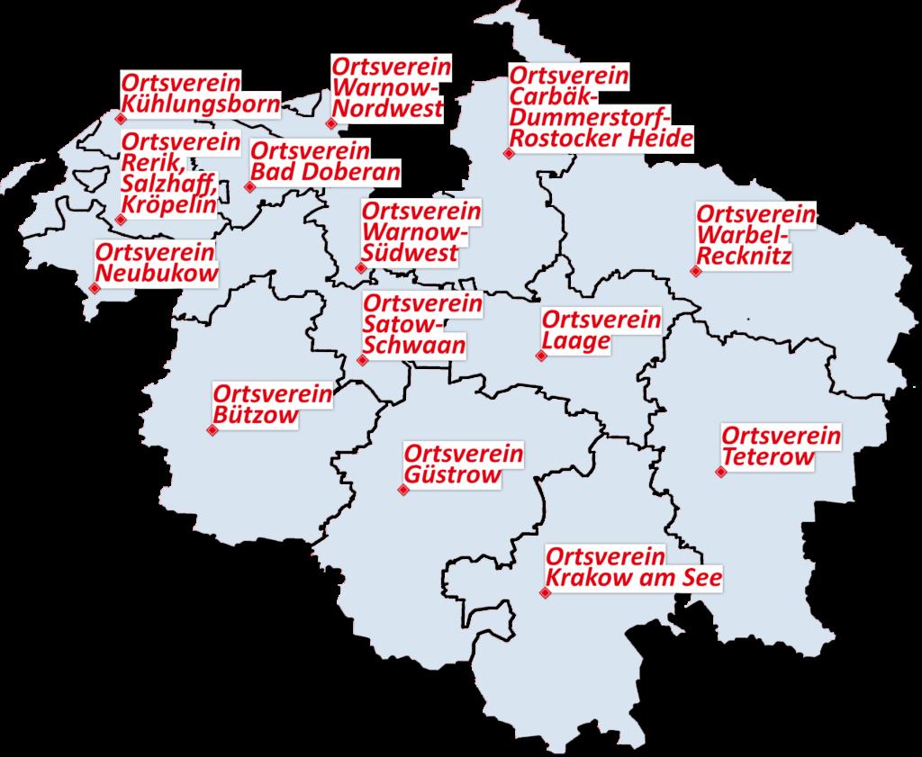 Karte der SPD-Ortsvereine