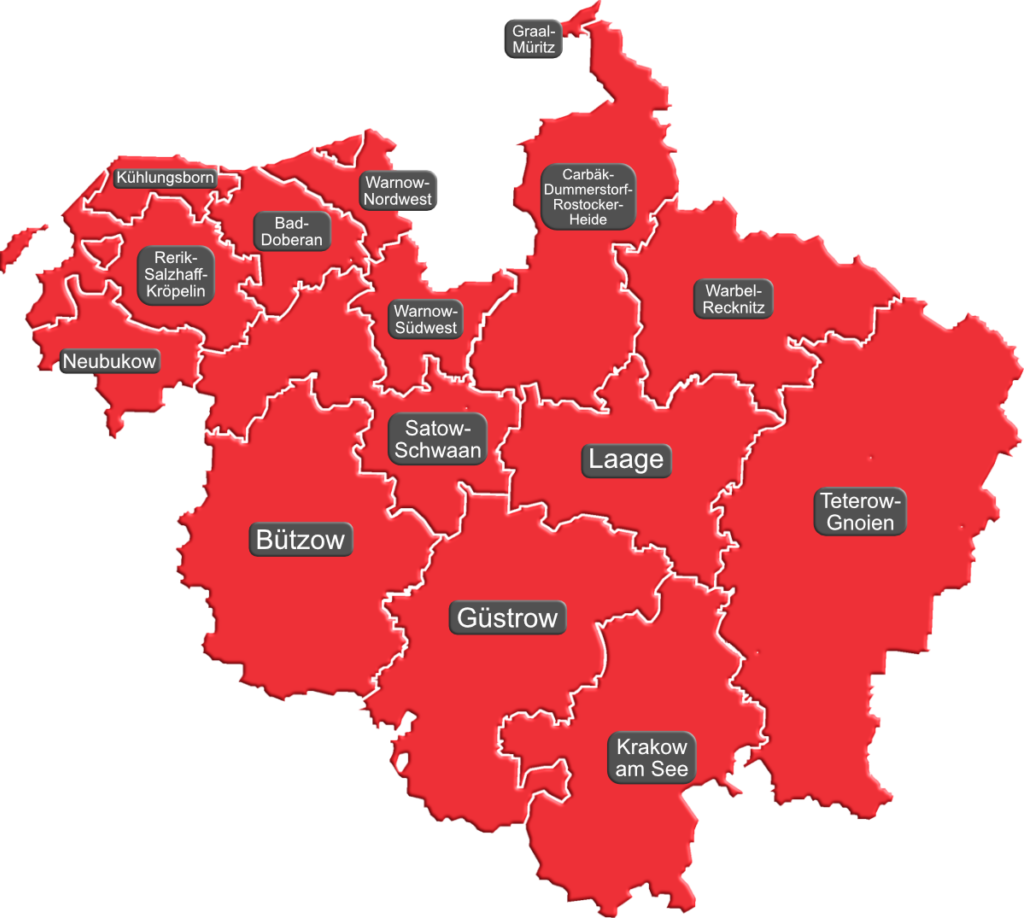 Karte der einzelnen Ortsvereine