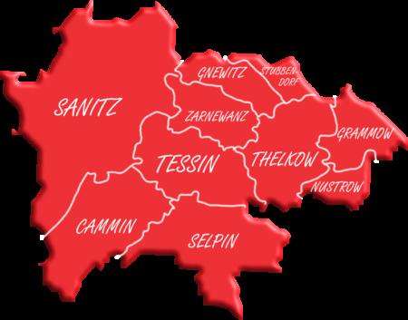 Karte des Ortsvereins Sanitz-Tessin