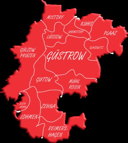 Karte des Ortsvereins Güstrow
